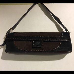 Salvatore Ferragamo leather/ suede shoulder bag